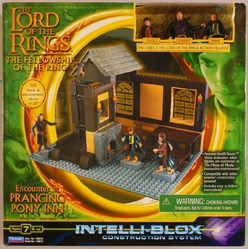 Lord of the Rings, Fellowship of the Ring, Encounter At the Prancing Pony, Construction System Intelli-blox Playset by Playmates - Exclusive Playmates Playset