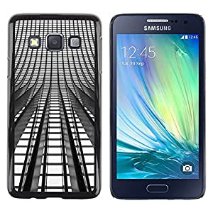 LECELL--Funda protectora / Cubierta / Piel For Samsung Galaxy A3 SM-A300 -- Lights Architecture Building City --