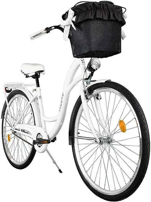 Cappuccino Farbe Komfort Fahrrad mit Korb und R/ückentr/äger Damenfahrrad Citybike Cityrad 28 Zoll 7-Gang Vintage Retro Milord Hollandrad