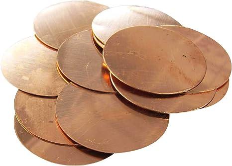 18 Gauge 3//8 Copper Discs Lot of 15