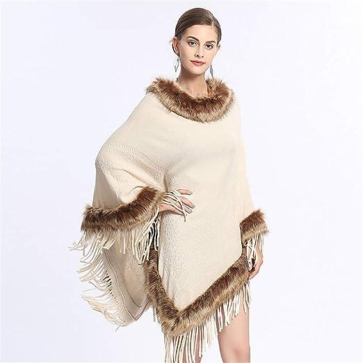 Fengbingl-ac Mantón de Las Mujeres del Poncho Traje Top para ...
