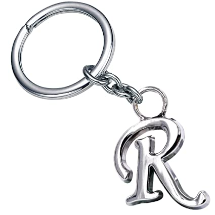 Stylish Letter R Simple Alphabet Key Ring Creative Packaging Design Box Z 338