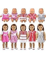 Miunana 6x Ropas de Muñeca Vestidos Verano Casual Fashion para 14 pulgadas muñeca bebé 36 cm Doll