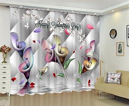 Tende A Fiori Per Camera Da Letto : Dbtxwd san valentino d tende oscuranti fiori stereoscopici stampa