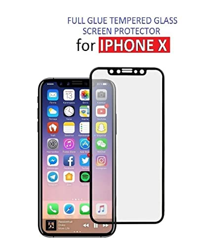 d7cfccfc569b MOBIFUSE Ultra Clear Tempered Glass Screen Protector for Apple iPhone X  2017 (Black)