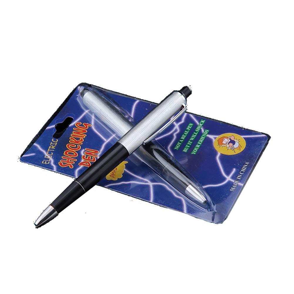 1 Piezas Tricky Creativo Sorpresa Divertida Electric Shock Ball Pen Toy para Broma práctica (Negro) Beito