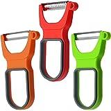 Lyxa SR 3-Piece Peeler Set, Vegetable Julienne Peelers With Stainless Steel Blades