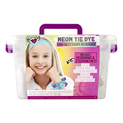 Fashion Angels Neon Tie Dye Hair Accessories Kit(12479) Tie Dye Caddy Set, Multi: Toys & Games