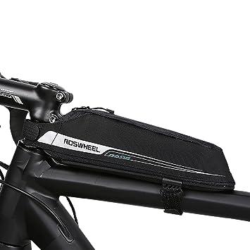 Roswheel Bicicleta Bolsas, Bolsa Bicicleta, Material Jacquard Bolsa Tubo Bicicleta Bolsas para el Manillar para de la Bici del Camino(0,4L)