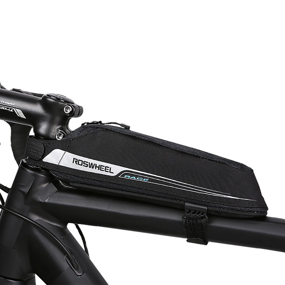 Roswheel Professional Road Bike Bag Cycling Bicycle Bike Bag Top Tube Triangle Bag Road Bike Front Bag(0.6L)