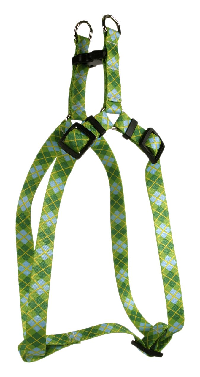Yellow Dog Design Argyle Green Step-in Dog Harness, X-Small