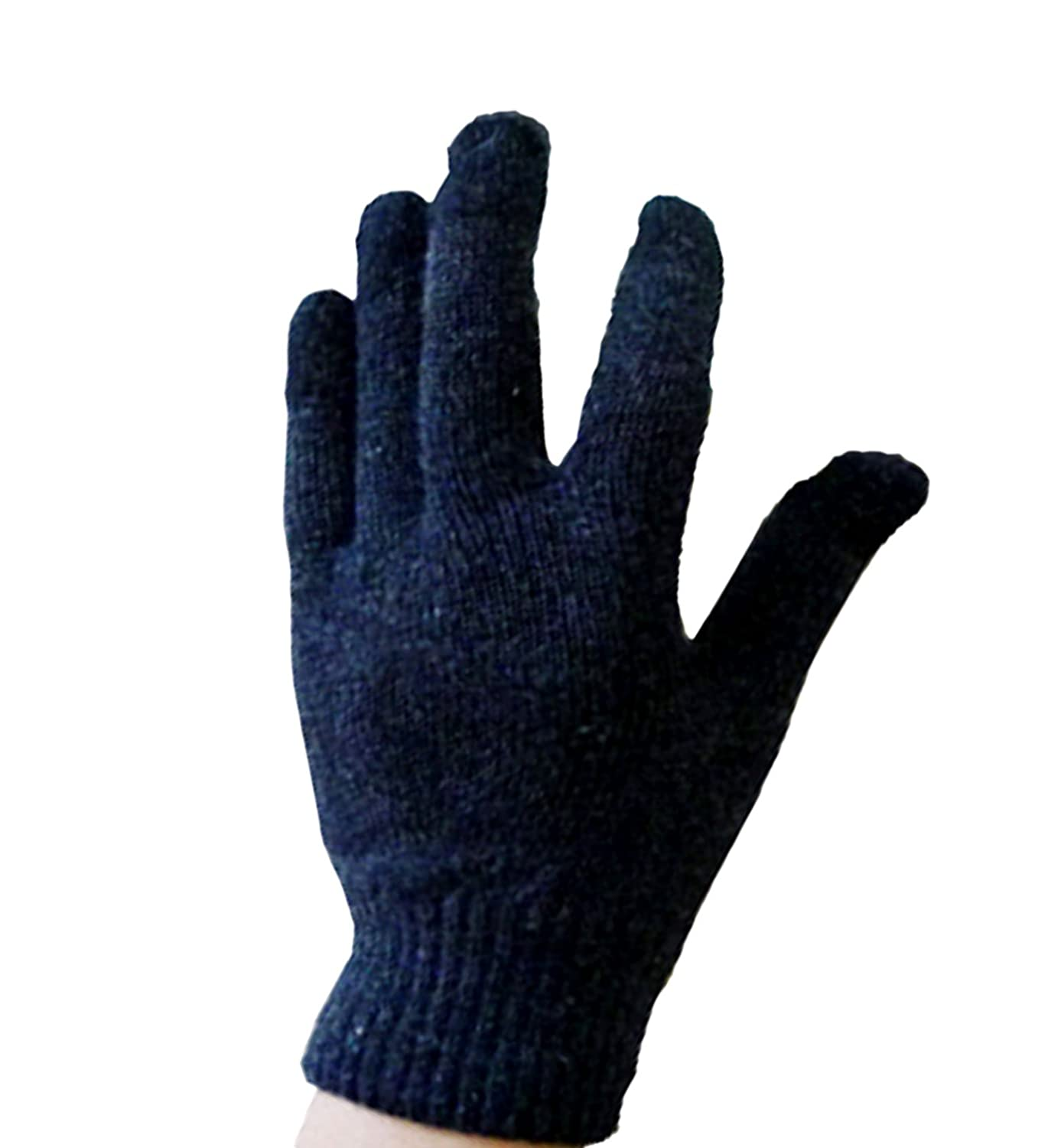 DURAGADGET Unisex Black Touch Screen Gloves 70/% Wool Small for Lenovo 660//860//850