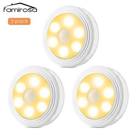 Luces LED de Noche de Pilas para Pared,Armario,Pasillo ...