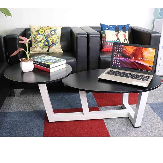 TUORUI Double Coffee Table, Mesa de Centro Doble, Mesa de sofá con Dos Niveles, Muebles de Sala de Estar, Mesa de Extremo Simple, para apartamento ...