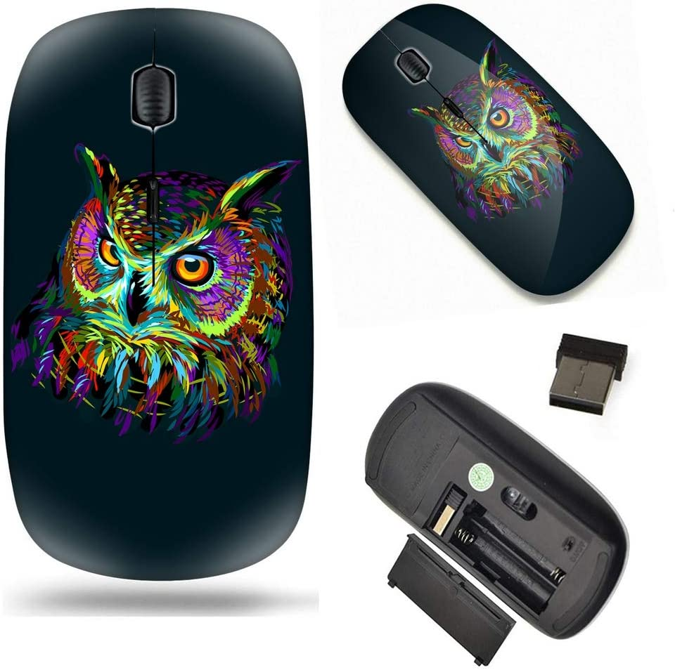 Laptop Unique Pattern Optical Mice Mobile Wireless Mouse 2.4G Portable for Notebook Computer Pop Art Owl PC