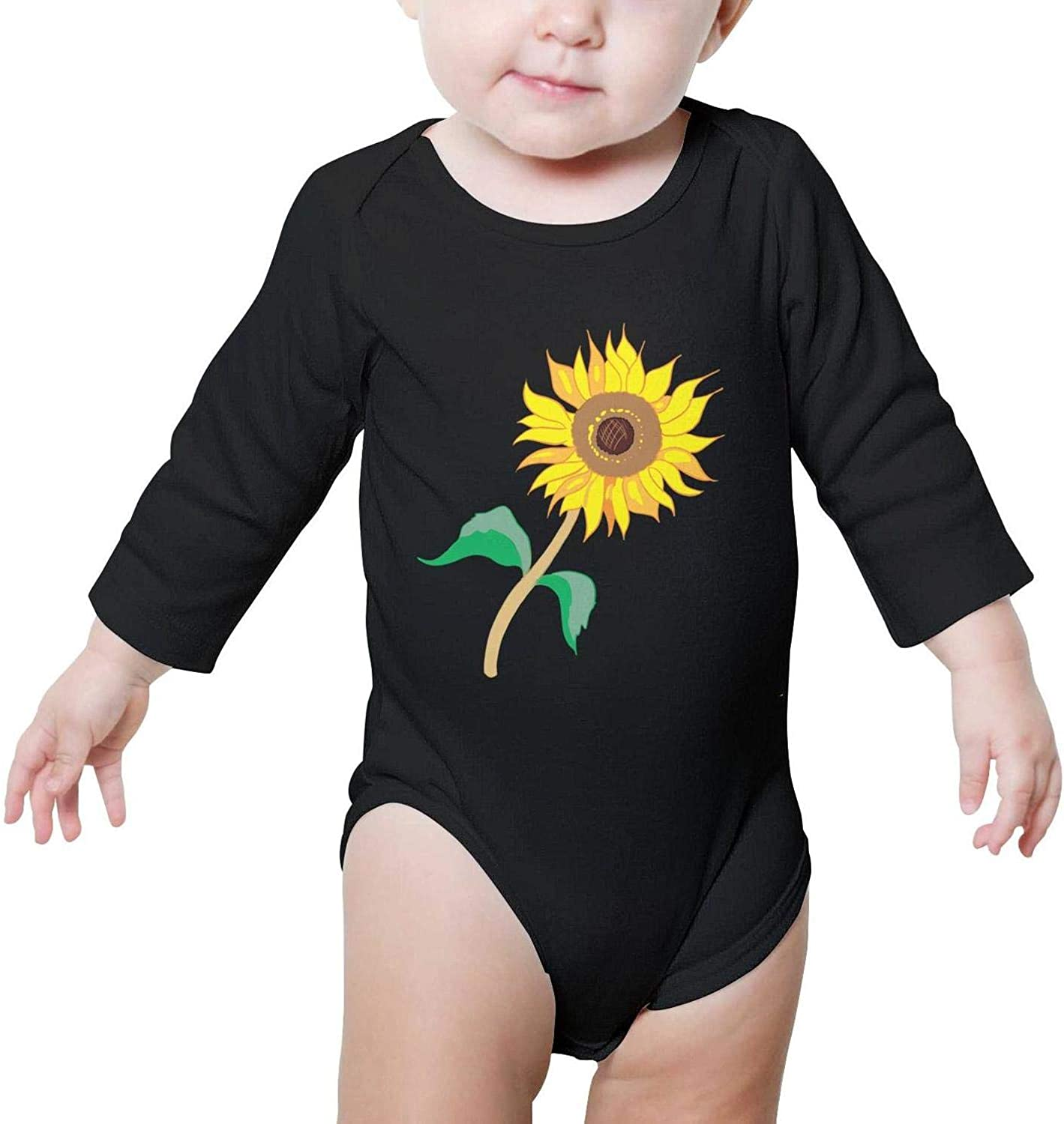XMBUY Cartoon Cute Sunflower Romper Outfits Organic Cotton Personalized Boys Girls Family Baby Onesie Long Sleeve