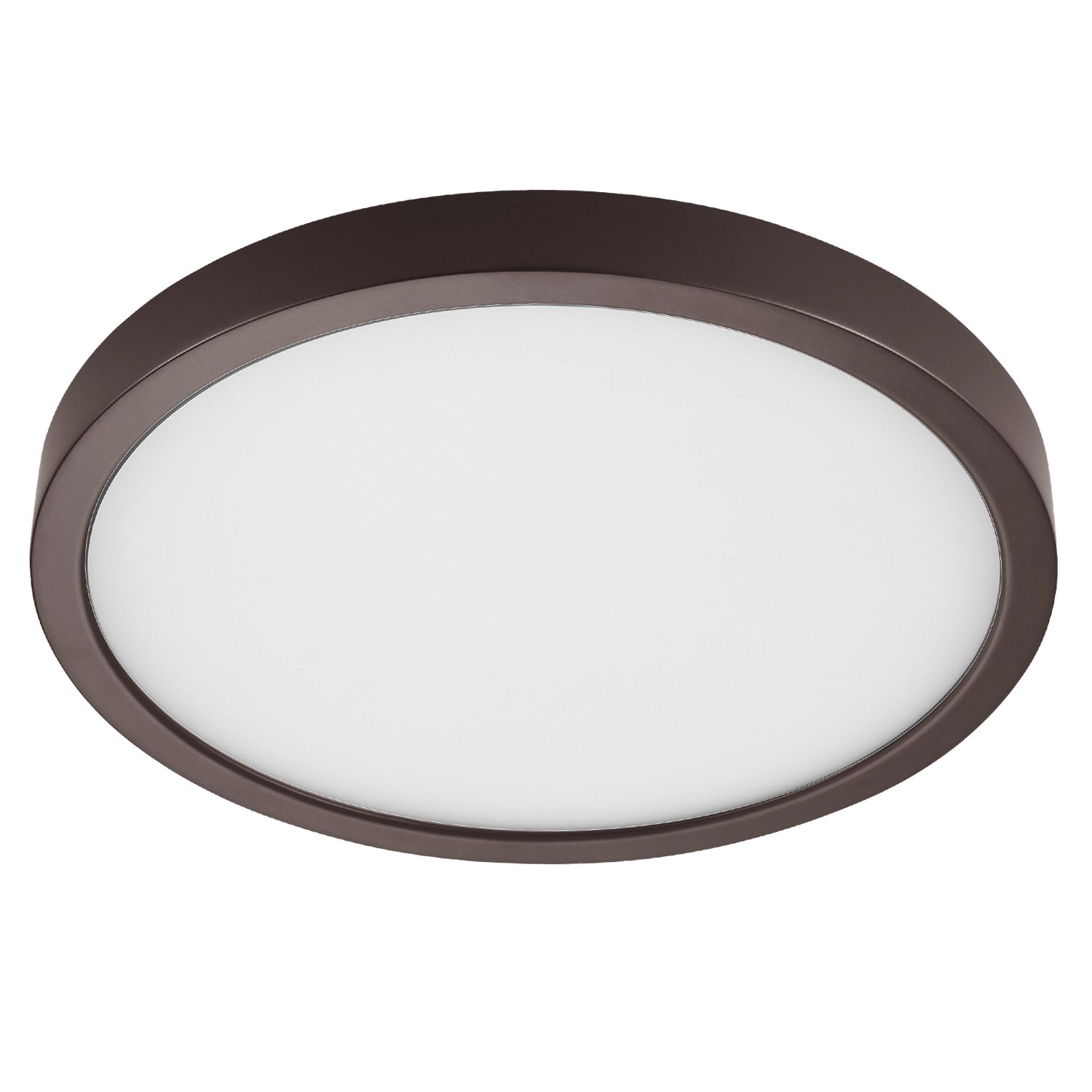GetInLight Round 10-inch Dimmable Flush Mount Ceiling Fixture, (2nd Generation), 17 Watt, Bronze Finish, 3000K Soft White, 100W Replacement, Damp Location Rated, ETL Listed, IN-0306-3-BZ by GetInLight