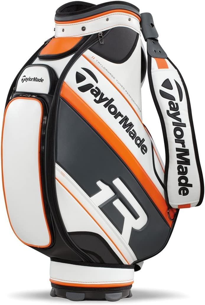 TaylorMade Apollo Staff Bag, White Gray Orange