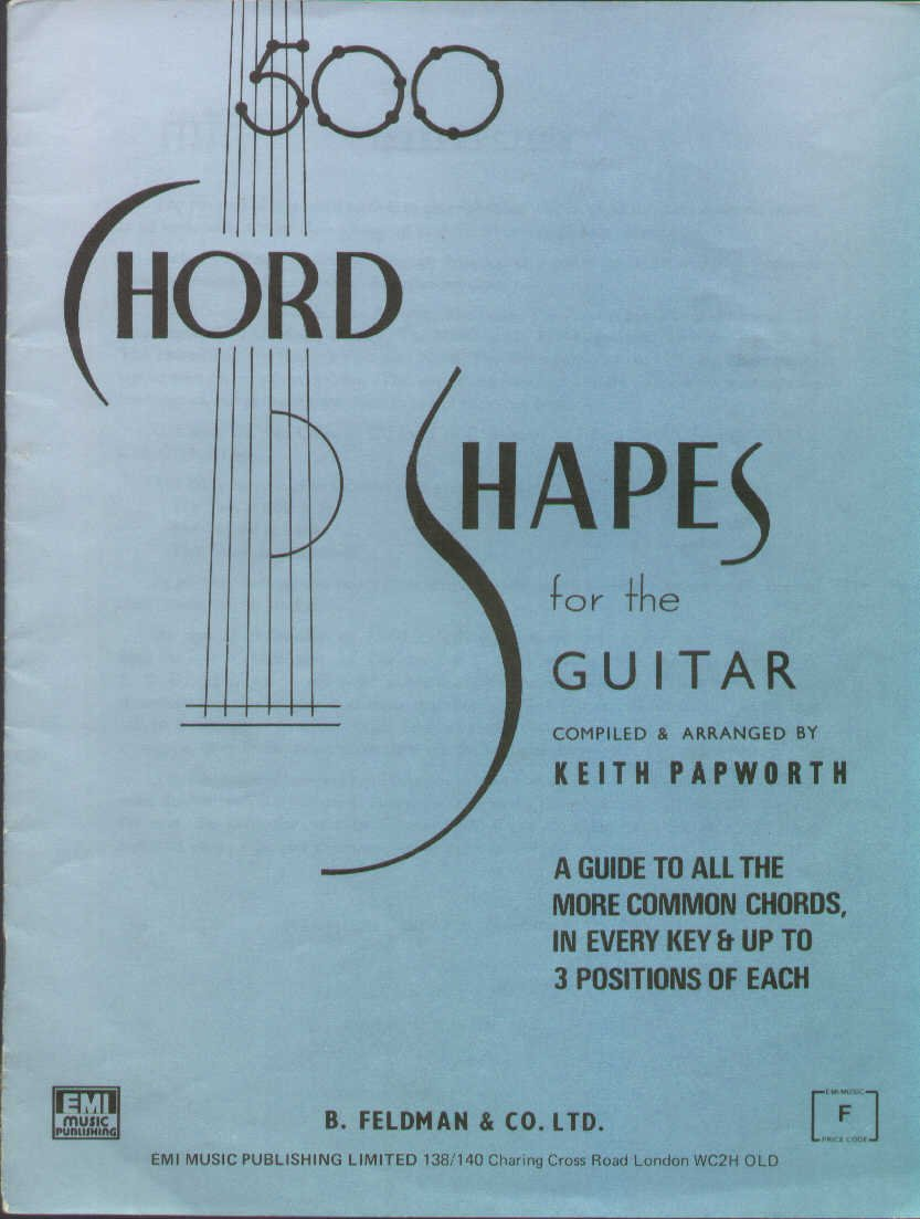 500 Chord Shapes For The Guitar And 500 Advanced Chord Shapes For