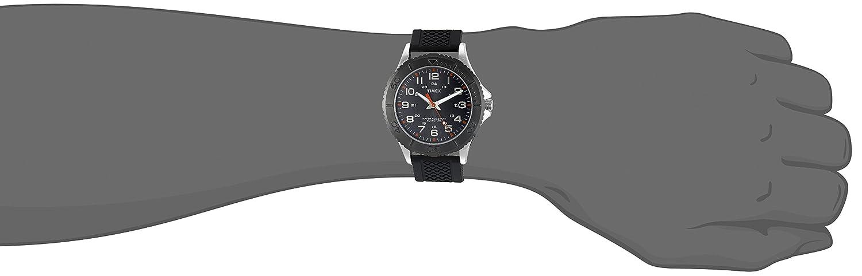 Amazon.com: Timex Mens TW2P87200 Taft Street Black Silicone Strap Watch: Timex: Watches