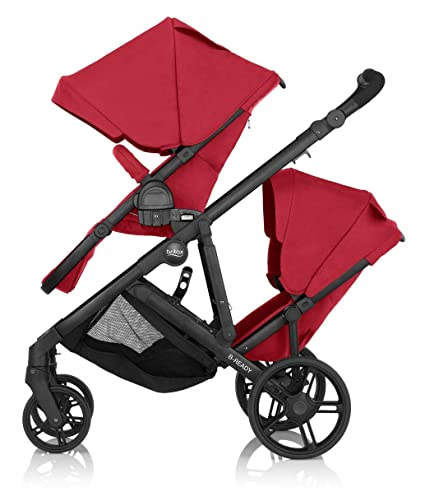 Britax B Ready Double Buggy Tandem Pushchair 2 Seater Stroller 3 Colour Options Red
