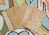 "Grass Cloth 4.5 Inch X 6.5 Inch Woven Texture Stack 4 1/2"" x 6 1/2"" Bamboo Paper, Beach Theme Scrapbook Mat"