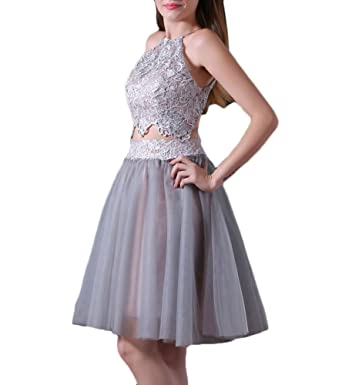 Heartgown Womens 2 Piece Lace Tulle Junior Prom Dress With Hater