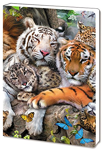 - Tree-Free Greetings Recycled Soft Cover Journal, Ruled, 5.5 x 7.5 Inches, 160 Pages, Big Cat Cuddle Themed Wildlife Art (88810)