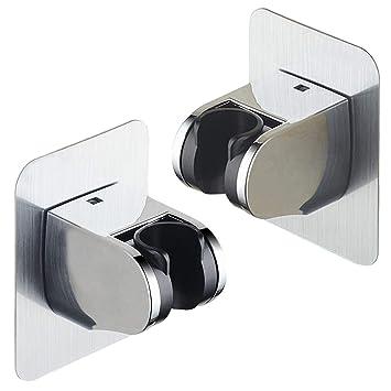 2 x Handbrause Halterung Verstellbar Brausehalter Duschkopfhalter Ohne Bohren