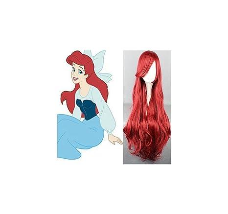 Parrucca Ariel (La Sirenetta) Adulto Bambino (Alta qualità Cosplay ... 8df1257530e