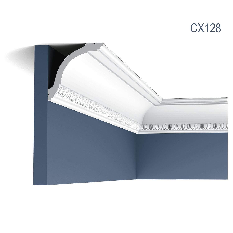 5-1//8 L Orac Decor Crown Moulding CX128 Primed Polyurethane Face 7//8 3-5//8 Proj:3-3//4 Des Rep 96 H