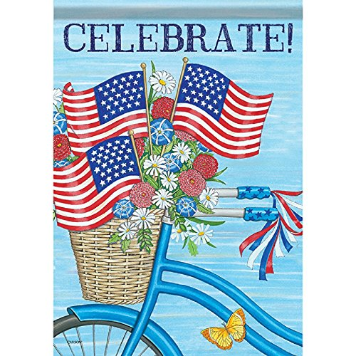 (Carson Home Accents FlagTrends 48881 Spirited Bike Ride Classic Outdoor Large Garden Flag, Bright Delight Daisies)