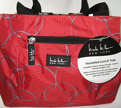 nicole-miller-of-new-york-insulated-11-lunch-tote-circle-red