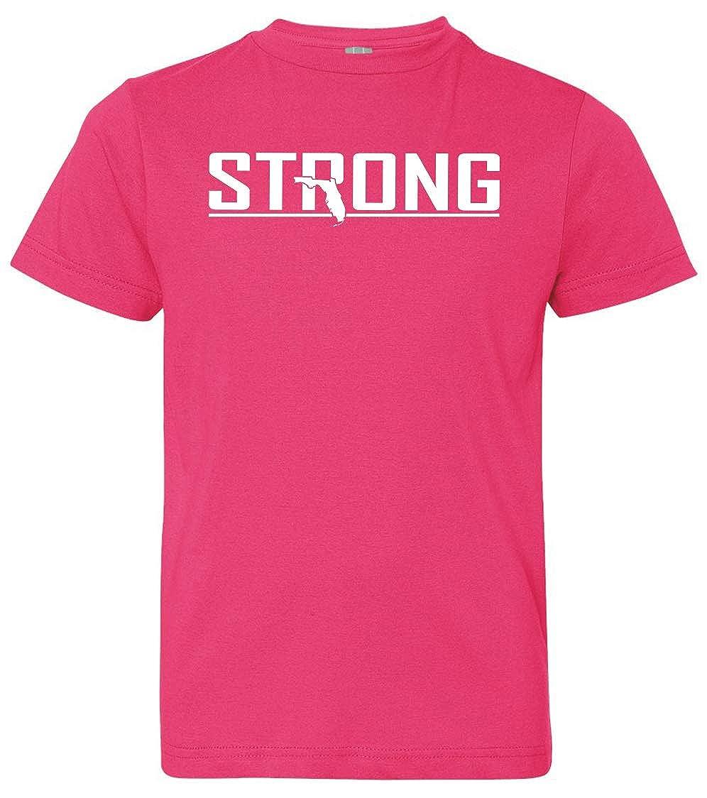 Tenacitee Boys Youth Strong T-Shirt Medium Hot Pink