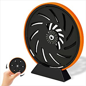 TAOLEI TAO-20205-6 (Orange) Fingertip Toy Office Wheel Spinner Gyroscope with Optical Illusion for Anti-Anxiety Stress Relieve Inspire Inner Creativity