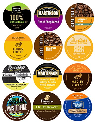 10 cup - LIGHT ROAST Non Flavored, Single Serve cup sampler! Only Light Roast COFFEE!