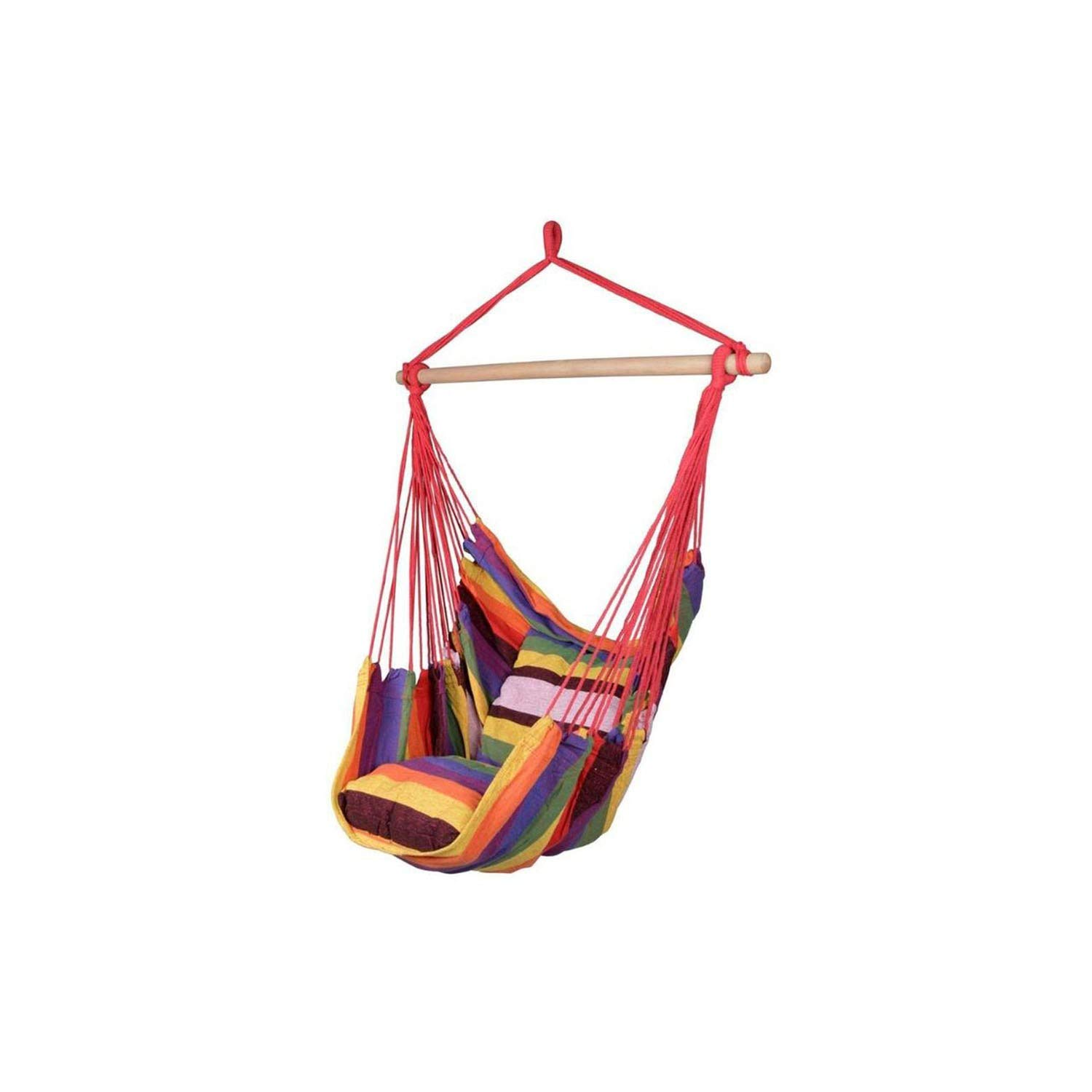 Red YAHAN Outdoor Hammock Chair Hanging Chair Swinging with 2 Pillows Hammock