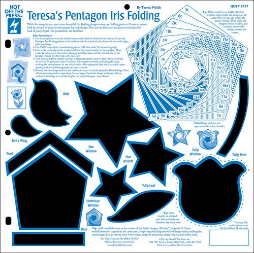 Hot Off The Press - Teresa's Pentagon Iris Folding Template by Hot Off The Press