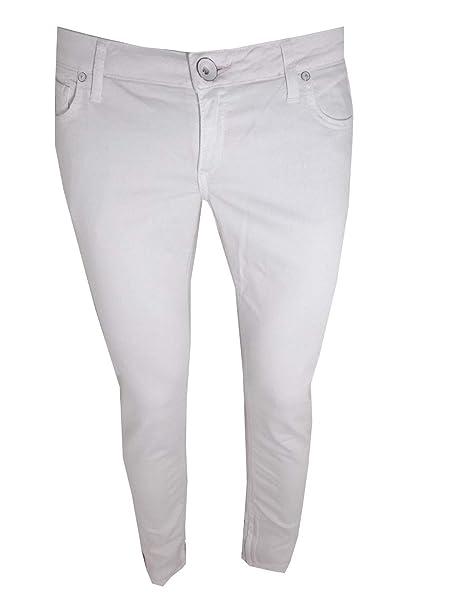 d9b91efe70d9a Guess jeans donna vita bassa elasticizzati zip caviglia rosa W29 W30  pantaloni denim slim skinny beverly  Amazon.it  Abbigliamento