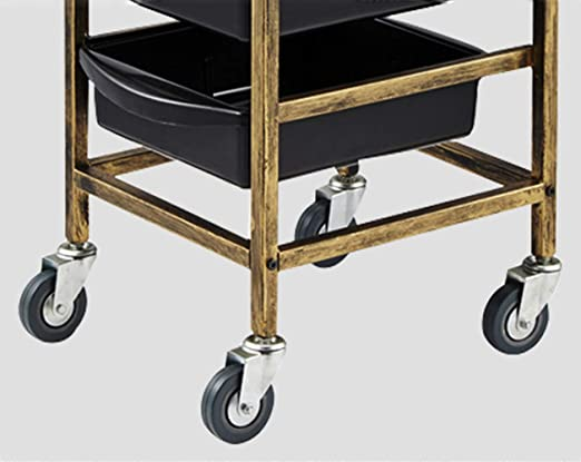 Amazon.com: MJHY Barber Cart On Wheels. Salon Cart With 4 Drawers Retro 5 Layers,Blue: Beauty