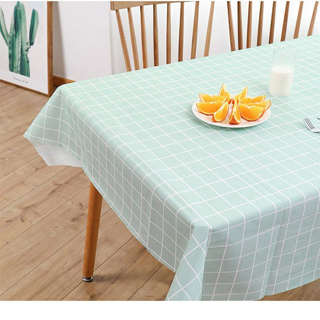 evelove Washable Rectangular Plaid Tablecloth Home Table Topper Decoration Tablecloths