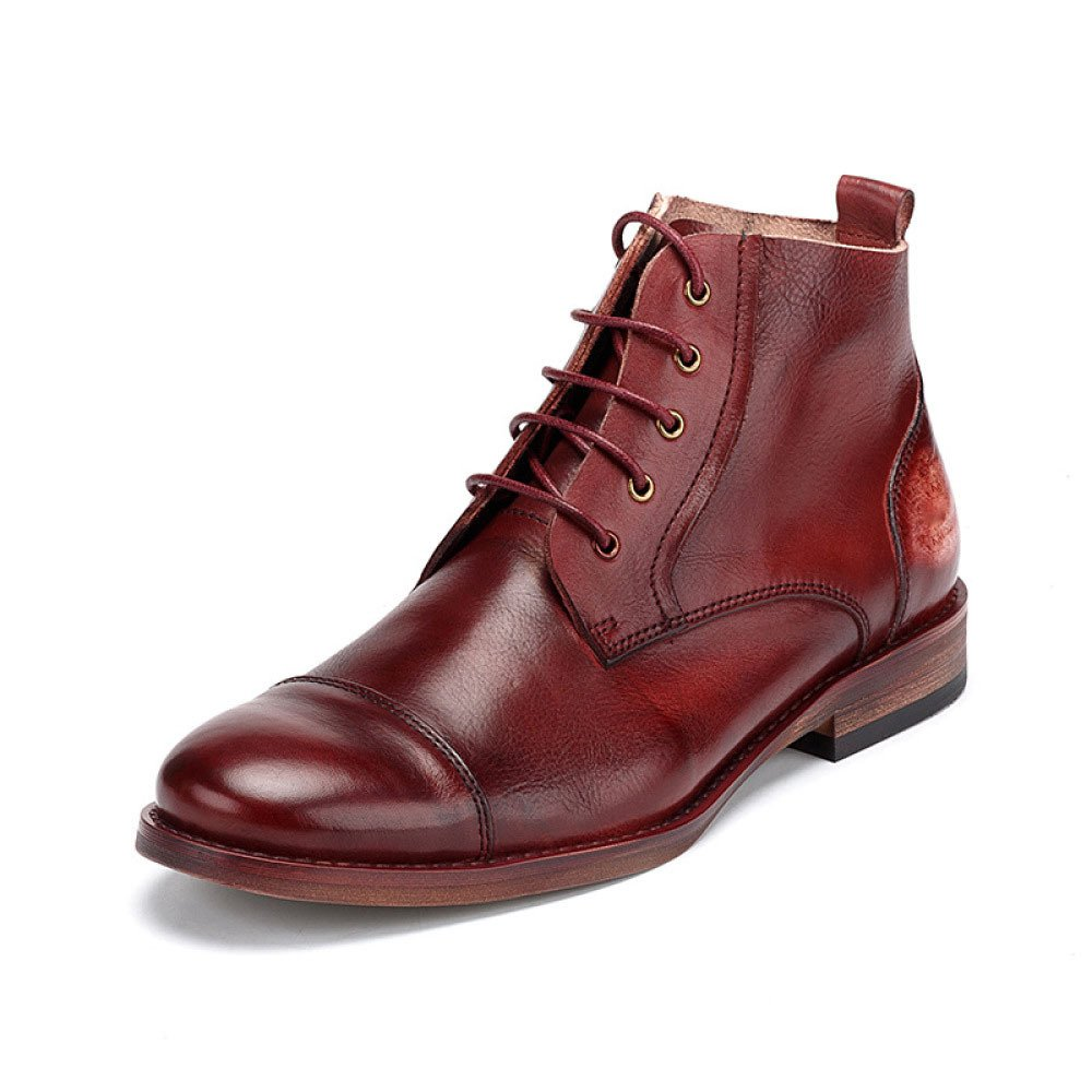Mann Gelegenheitsartikel Mode Schnürung Geschäft Hi-Top Britisch Retro Martin Stiefel Komfortabel Outdoor Lederschuhe