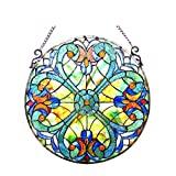 Chloe Lighting Liaison Tiffany-Glass Victorian Window Panel 20''