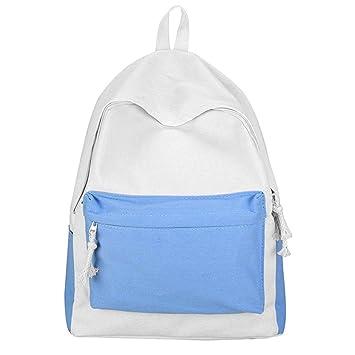 GiveKoiu-Bags - Mochilas de Lona para niñas para la Escuela, Modernas y con diseño de Lobo, Infantil, 2019621, Azul, Tamaño Libre: Amazon.es: Deportes y ...
