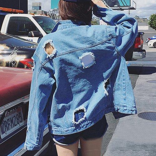 Vaquera Mujeres Desigual Jacket New De Mezclilla Cazadora Chaquetas RC7wWzq