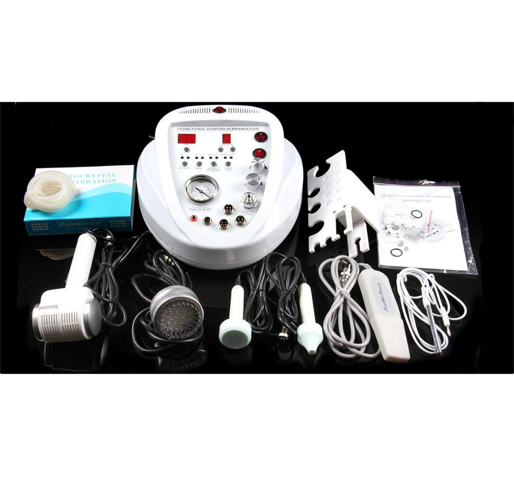 5 In 1 Deep Cleaning Facial Table Top Facial Machine Skin Care Therapy Remove Equipment Diamond Microdermabrasion With Sonophoresis Professional Skin Care Exfoliating Beauty Machine & Cold And Hot Ha