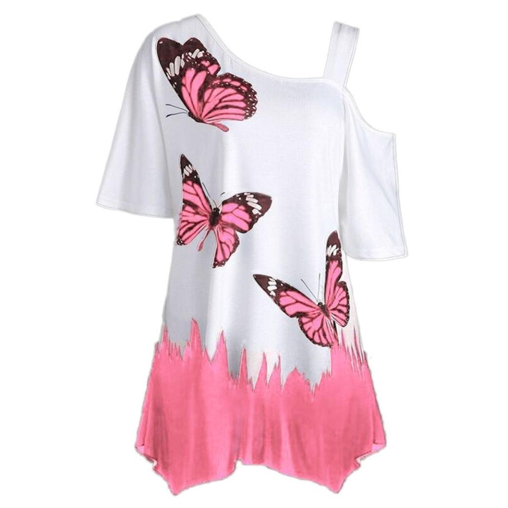 Amazon.com: Large Plus Size Blouse for Womens, FORUU Butterfly Printing Short Sleeve T Shirt: Clothing