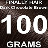 Finally Hair Building Fiber Refill 100 Grams Dark Chocolate Brown Hair Loss Concealer by Finally Hair (Dark Chocolate Brown)