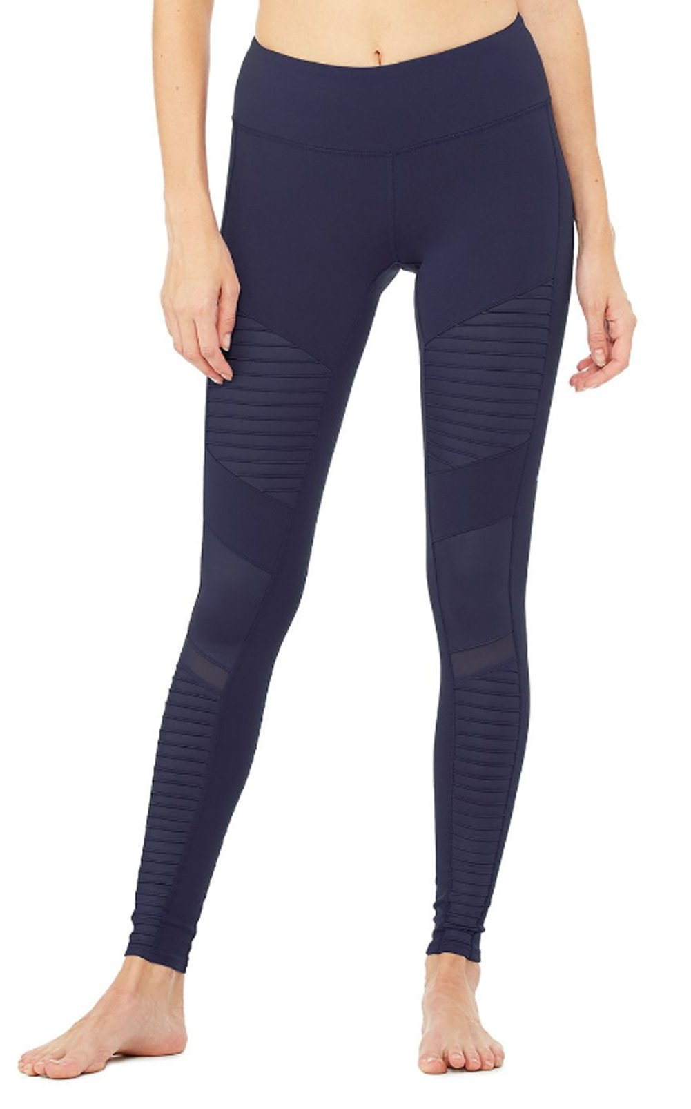 Alo Yoga Women's Moto Legging, Rich Navy, L