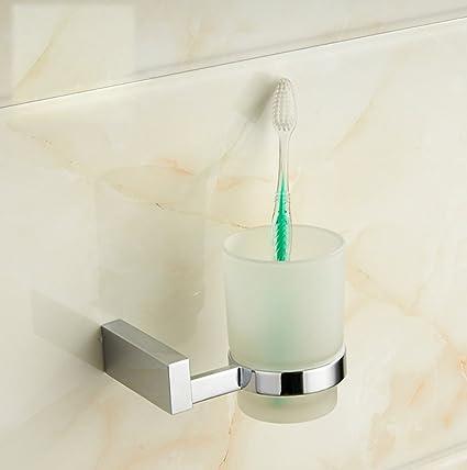 LD&P Porta tazas de cepillos de dientes, Cuarto de baño individual Portacepillos de dientes Almacenamiento